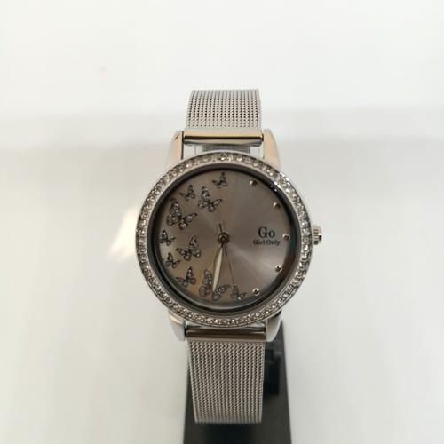 GO GIRL ONLY ženski ručni sat u srebrnoj boji s detaljima