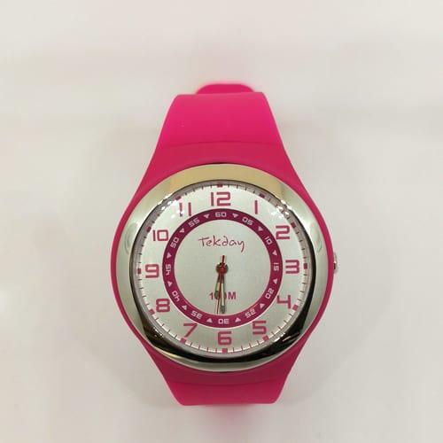 TEKDAY analogni ženski sat u ružičastoj boji