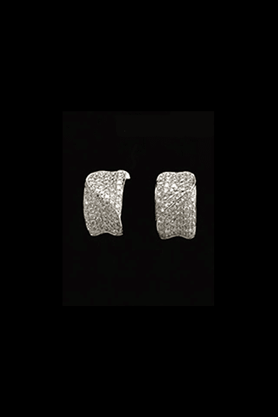 Naušnice bijelo zlato 18KT s dijamantima 2,29ct