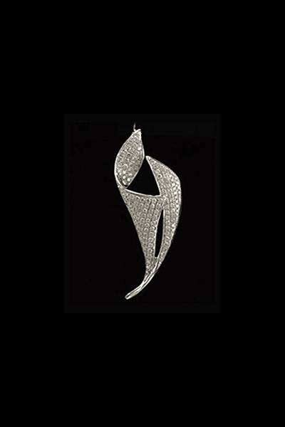 Moderan privjesak od bijelog zlata s dijamantima 0,59 ct