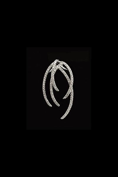 Moderan privjesak od bijelog zlata s dijamantima 0,82ct