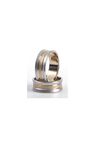Lewiko vjenčani prsten s detaljem od žutog zlata