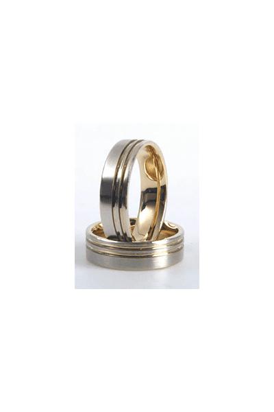 LEWIKO Zlatni vjenčani prsten s dijamantom 0,03ct