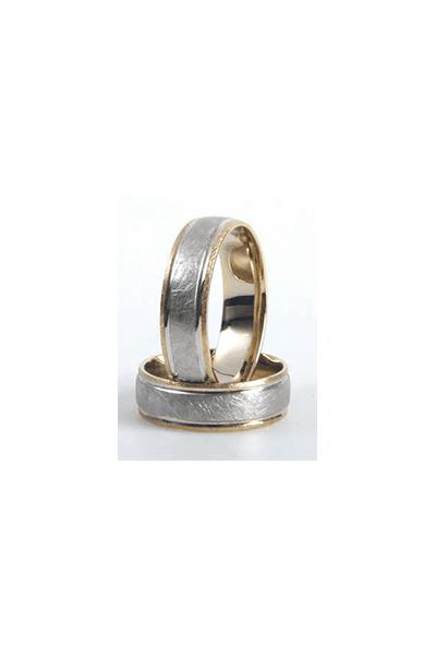 Lewiko zlatni vjenčani prsten s detaljima od bijelog zlata
