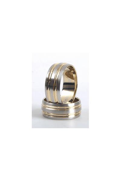 LEWIKO Vjenčani prsten zlatni s detaljima 8 mm