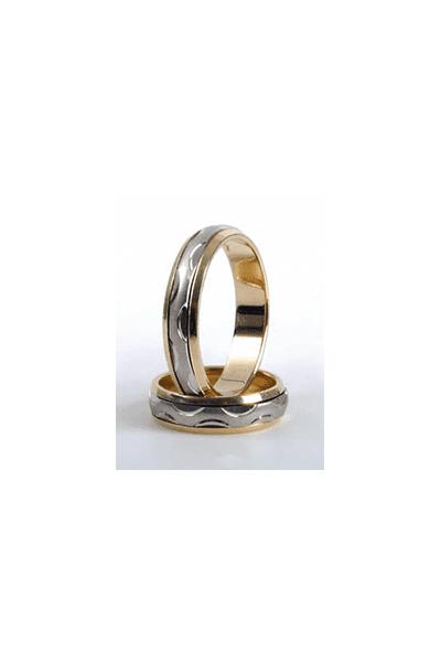 LEWIKO Zlatni vjenčani prsten s detaljima 5mm