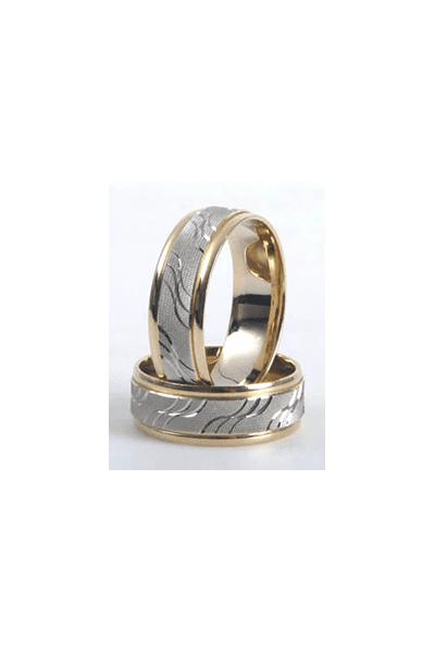 LEWIKO   LEWIKO Vjenčani zlatni prsten s detaljima, 7mm