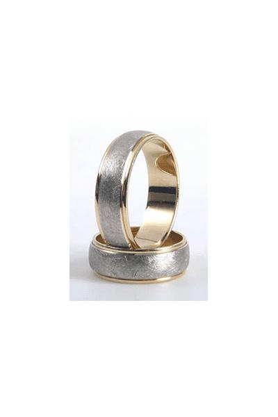 LEWIKO   LEWIKO Zlatni vjenčani prsten s detaljima, 7 mm