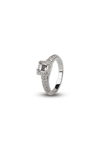 LEWIKO Zaručnički prsten bijelo zlato s dijamantima 0,51 ct