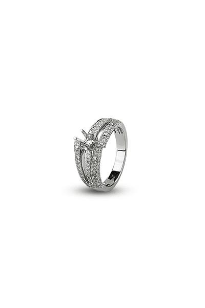 LEWIKO Zaručnički prsten bijelo zlato s dijamantima 0,902 ct