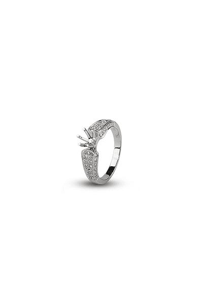 LEWIKO Zaručnički prsten bijelo zlato 750 s dijamantima 0,657 ct