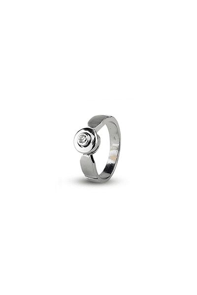 LEWIKO Zaručnički prsten bijelo zlato s dijamantom 0,13 ct