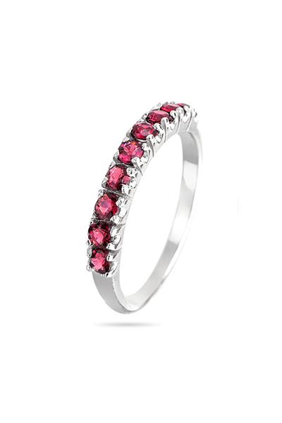 Srebrni prsten s rozim cirkonima
