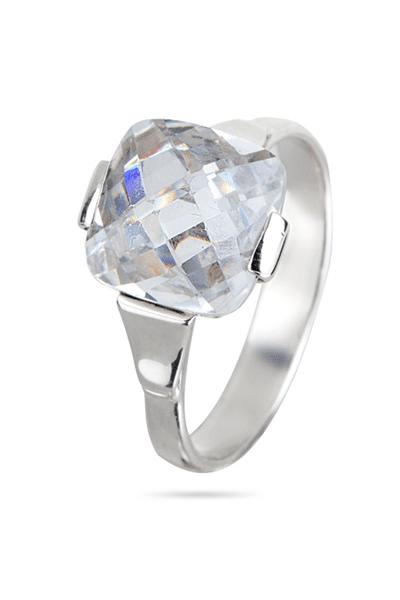 Lewiko srebrni prsten s cirkonom