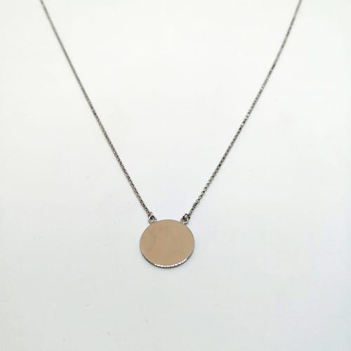 Zlatna ogrlica od bijelog zlata s privjeskom