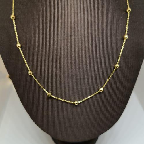 Jednostavna zlatna ogrlica od žutog zlata